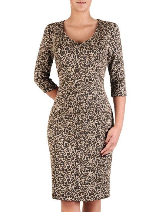 Sukienka damska Irwina XIII, prosta kreacja z dzianiny.