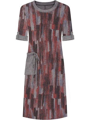 Sukienka damska Kira III, jesienna kreacja z dzianiny.