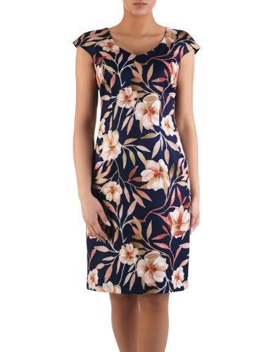 Sukienka damska Klarens VIII, wiosenna kreacja w kwiaty.
