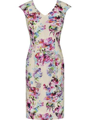 Sukienka damska Lisbet, zwiewna kreacja w kwiaty.