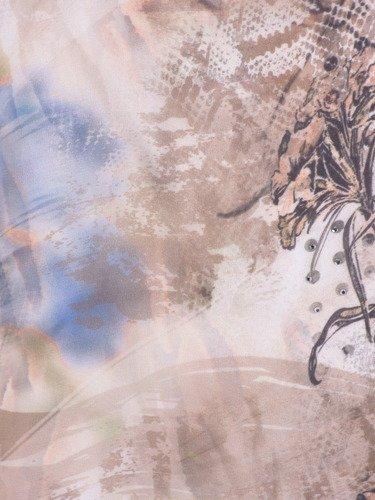 Sukienka damska Magnolia XII, wiosenna kreacja w fasonie maskującym brzuch.