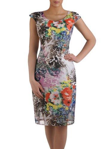 Sukienka damska Maura, zwiewna kreacja w kwiaty.
