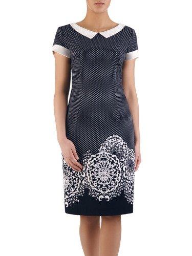 Sukienka damska Telinda I, elegancka kreacja z modnym kołnierzykiem.