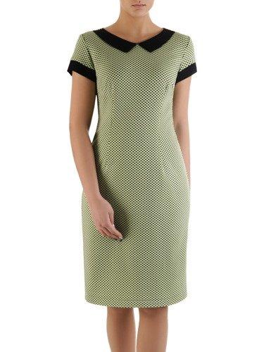 Sukienka damska Telinda X, elegancka kreacja z modnym kołnierzykiem.