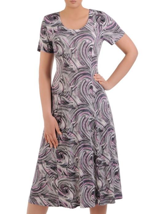 Sukienka damska, dzianinowa kreacja w długości midi 20677.