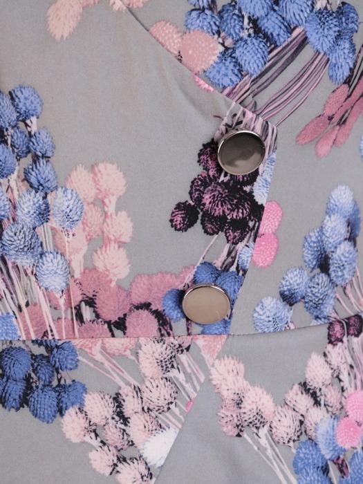 Sukienka damska, kopertowa kreacja z łączonych tkanin 21286.