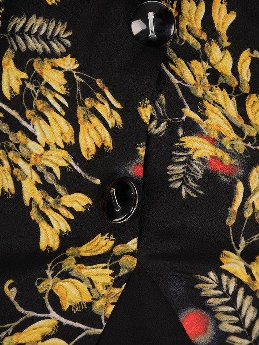 Sukienka damska, wyszczuplająca kreacja z tkaniny 25612