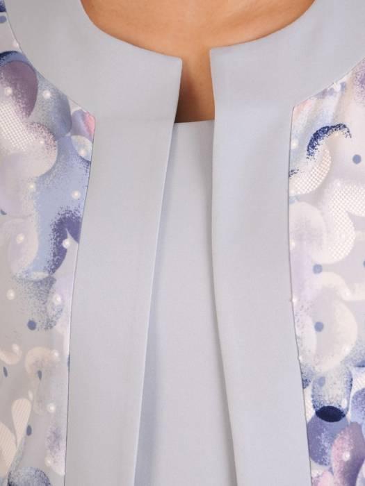 Sukienka damska z tkaniny, kreacja z imitacją żakietu 28855