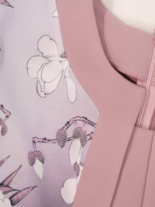 Sukienka damska z tkaniny, kreacja z imitacją żakietu 28856