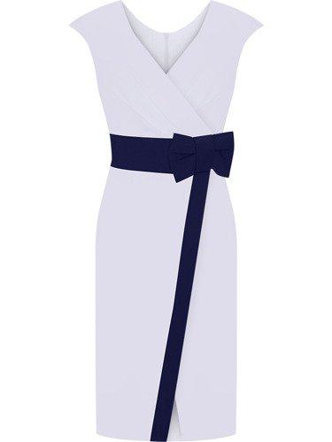 Sukienka koktajlowa Lusi I, kopertowa kreacja na wiosnę.
