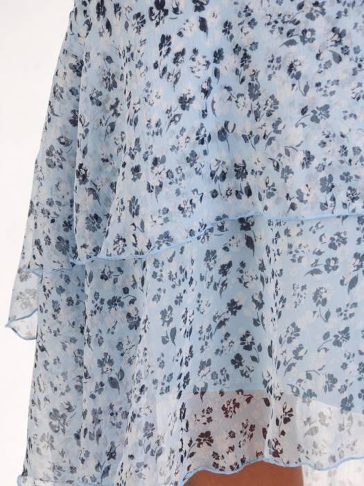 Sukienka koktajlowa, zwiewna kreacja w oryginalnym wzorze 28948