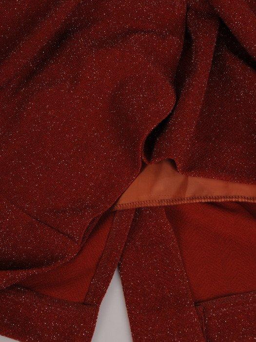 Sukienka kopertowa Apolonia XIV, dzianinowa kreacja na jesień.