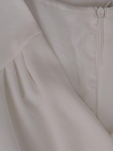Sukienka kopertowa Karmen II, letnia kreacja maskująca brzuch.
