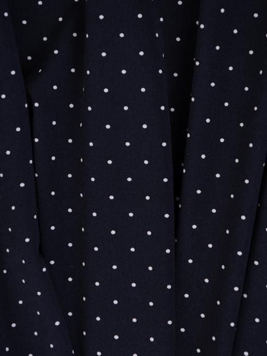 Sukienka kopertowa, granatowa kreacja w groszki 20607.