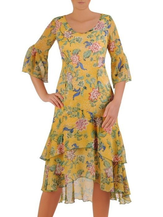 Sukienka letnia, zwiewna kreacja w kwiaty 26163