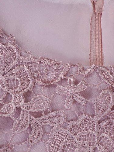 Sukienka na wesele Wirginia XIX, elegancka kreacja z gipiury i tkaniny.