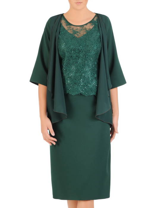Sukienka na wesele, elegancka kreacja w wyszczuplającym fasonie 30318