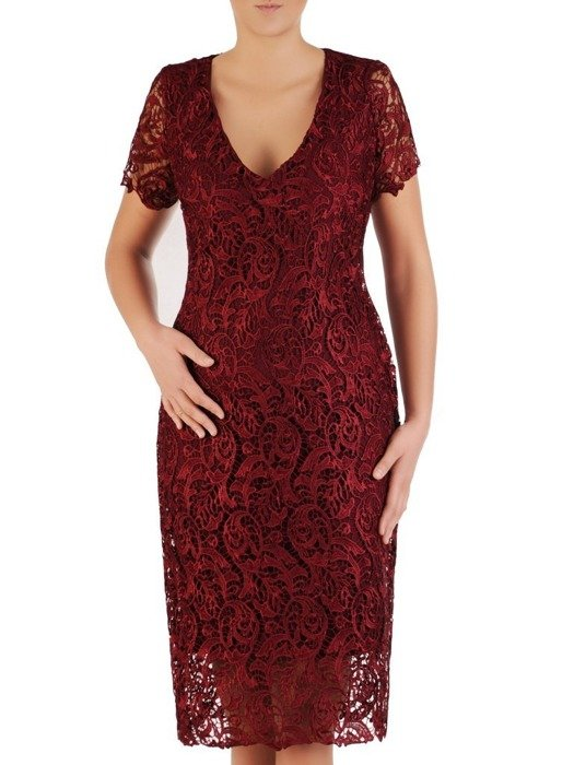 Sukienka na wesele, elegancka kreacja z gipiury 22556
