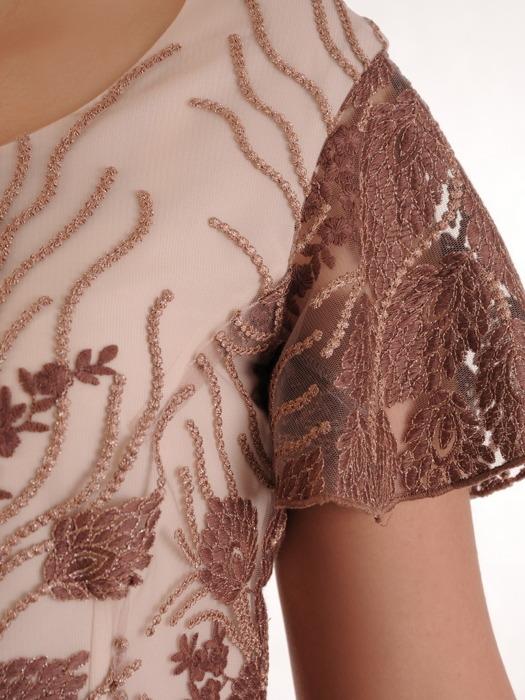 Sukienka na wesele, komunię, elegancka kreacja z koronki i szyfonu 20936.