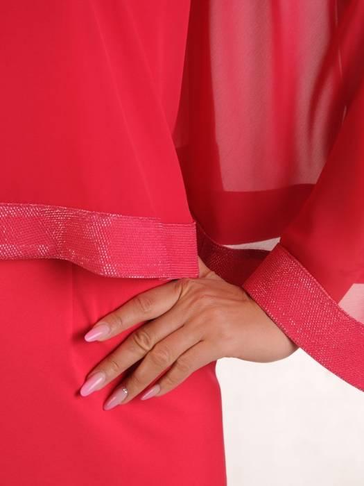Sukienka na wesele, koralowa kreacja w oryginalnym fasonie 26356