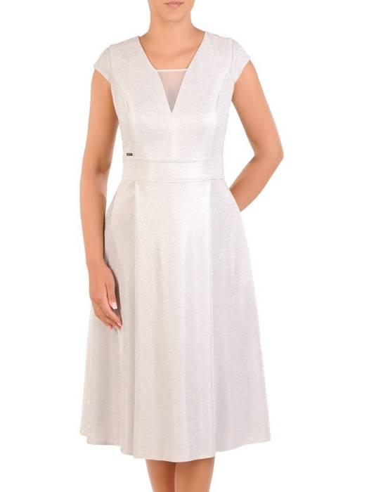 Sukienka na wesele, nowoczesna kreacja z brokatowym połyskiem 30157