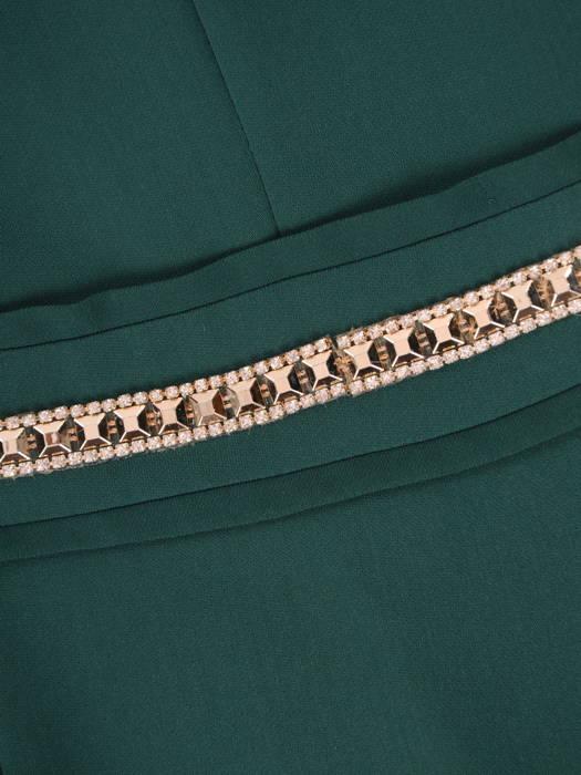 Sukienka na wesele, nowoczesna kreacja z ozdobnym pasem 30831