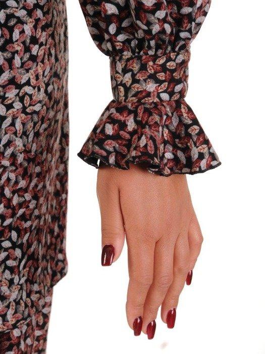 Sukienka o trapezowym kroju, kreacja z falbanami 26803