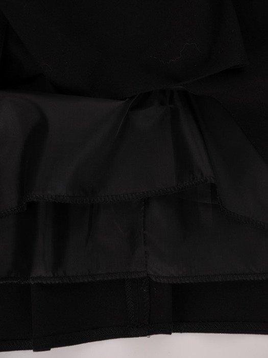 Sukienka w oryginalny wzór Kazimiera II, jesienna kreacja trapezowa.