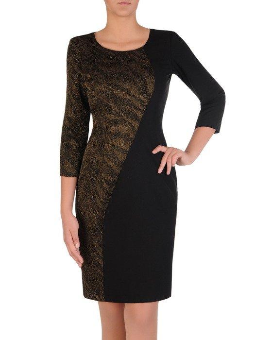 Sukienka wieczorowa Suzana I, wyszczuplająca kreacja z delikatnym połyskiem.