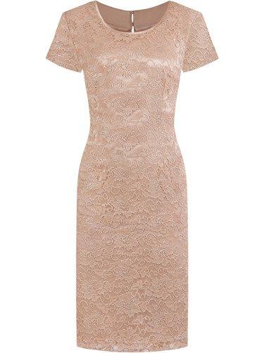 Sukienka wizytowa Ariana III, pastelowa kreacja z koronki.