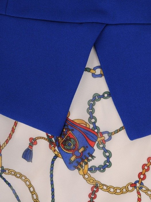 Sukienka wizytowa, wiosenna kreacja z dekoltem kopertowym 25816