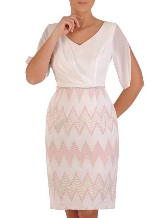 Sukienka wyjściowa, kreacja z szyfonowymi rękawami 28185