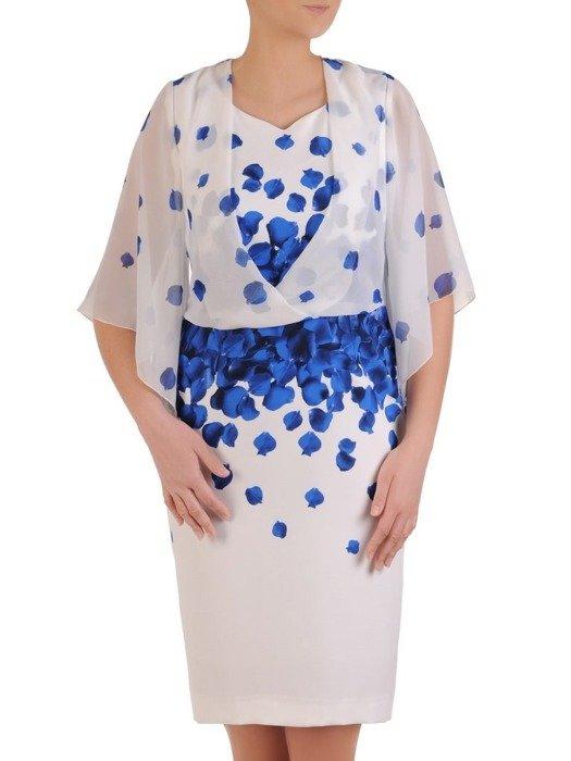 Sukienka wyjściowa, oryginalna kreacja z łączonych tkanin 25576