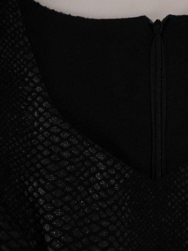 Sukienka wyjściowa z połyskiem Iwetta, elegancka kreacja z wężowym motywem