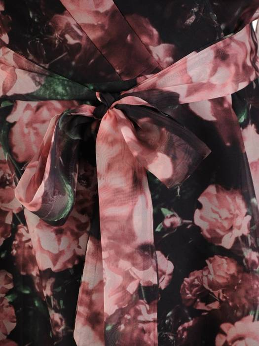 Sukienka wyjściowa, zwiewna kreacja w kwiecistym wzorze 26895