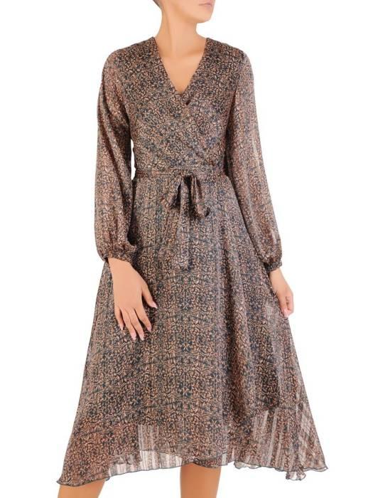 Sukienka wyjściowa, zwiewna kreacja w modnym wzorze 27011
