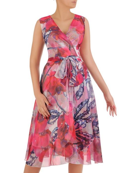 Sukienka wyjściowa, zwiewna kreacja z szyfonu 20955.