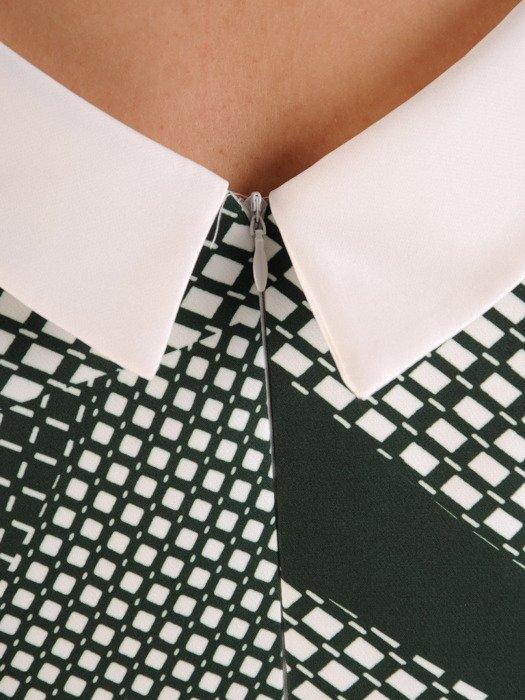 Sukienka wyszczuplająca, geometryczna kreacja z tkaniny 20051.