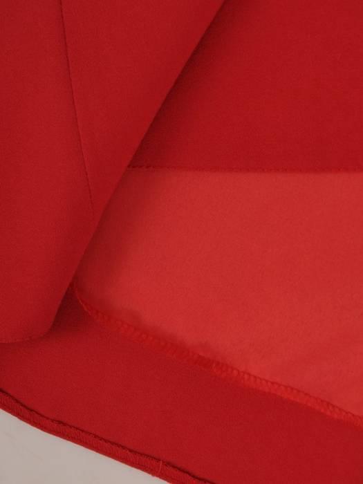Sukienka z dekoracyjnymi rękawami, czerwona kreacja wyszczuplająca 26515