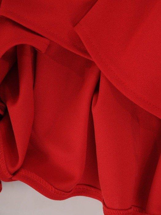 Sukienka z dzianiny, rozkloszowana kreacja z kołnierzem 24865