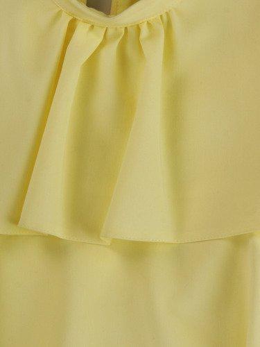 Sukienka z falbanami Jesika III,  pastelowa kreacja w stylu retro.