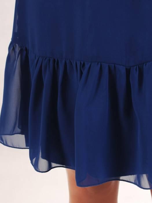 Sukienka z falbanami, zwiewna kreacja z szyfonu 26456