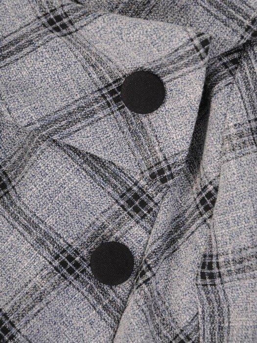 Sukienka z imitacją żakietu, prosta kreacja z ozdobnym kołnierzem26791