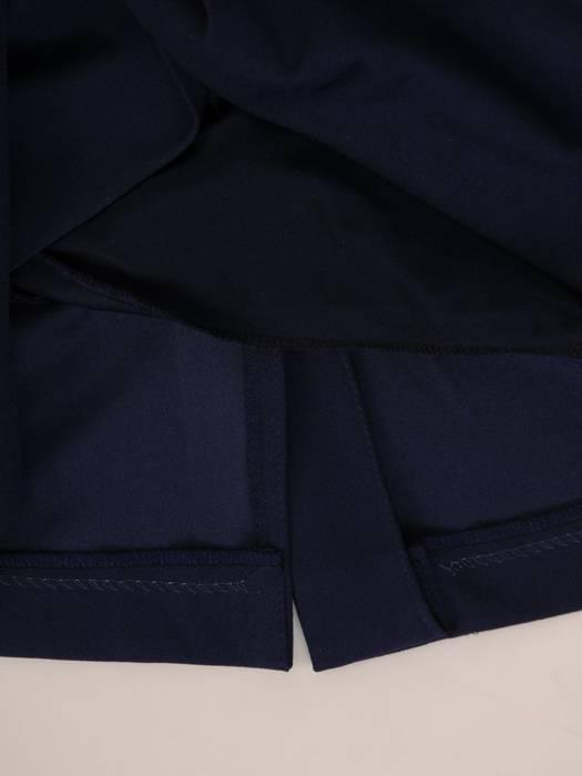 Sukienka z imitacją żakietu, prosta kreacja z ozdobnym kołnierzem 26985