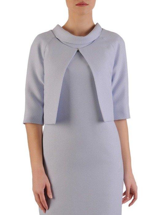 Sukienka z krótkim bolerkiem, nowoczesny komplet wizytowy 24831