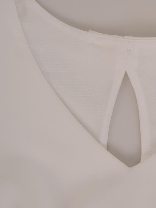 Sukienka z modnym wycięciem na plecach, biała kreacja koktajlowa 21480