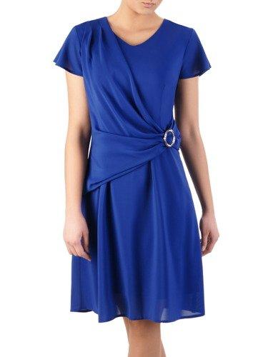 Sukienka z ozdobnym drapowaniem Benita I, kreacja spięta klamrą