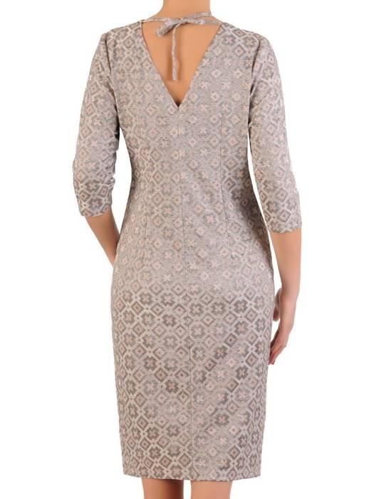 Sukienka z ozdobnym marszczeniem w talii 29093