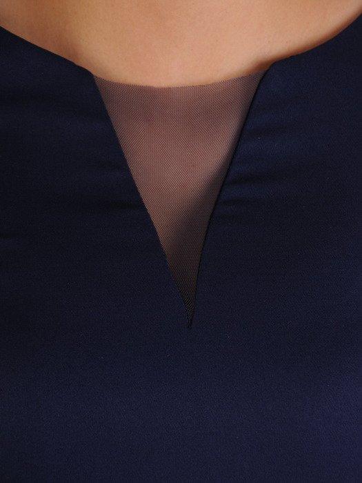 Sukienka z ozdobnymi patkami, wyszczuplająca kreacja z tkaniny 19400