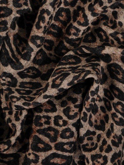 Sukienka z paskiem, jesienna kreacja w zwierzęcym wzorze 23262